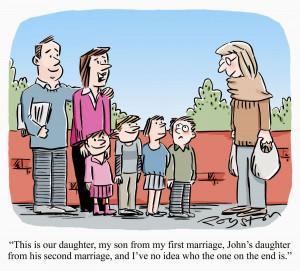 Blended Family Cartoon