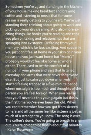 College quotes, deep, best, sayings, kalyn roseanne