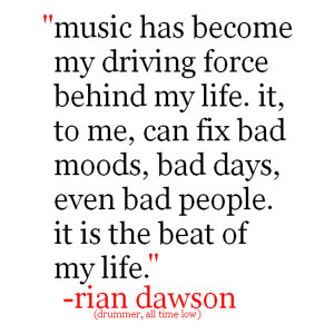 is the driving force behind the life of this drummer and he believes ...