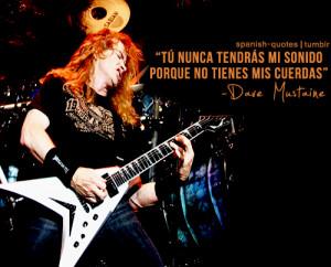 Frases y fotos de Dave Mustaine