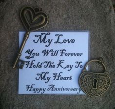 ... Key Chain! Perfect for our 8th wedding anniversary in a couple months
