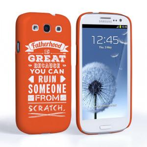 Home / Father's Day / Caseflex Fatherhood Funny Quote Samsung Galaxy ...