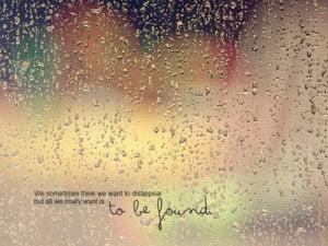 love quote(s), and also rain...