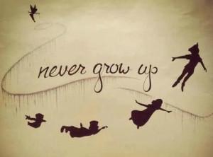 never grow up! #peterpan