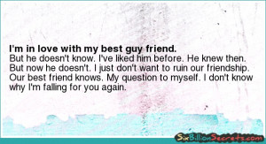 Love - I'm in love with my best guy friend.