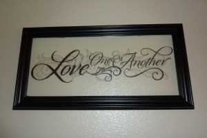Faux Etched Glass Framed Quote - Tutorial