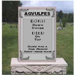 Fun With Gravestones and Tombstone Sayings: Kill Your Friends and ...