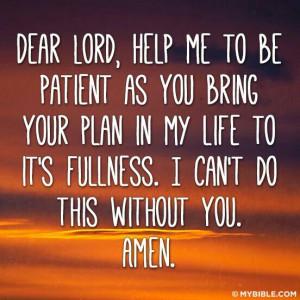 Help me to be Patient†