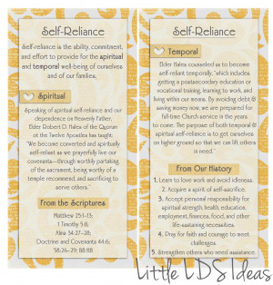 Self Reliance Quotes On the back you have quotes