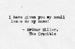 The Crucible by Arthur MillerSubmitted by margaretdillon