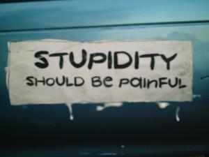 Stupidity… #StupidityFine