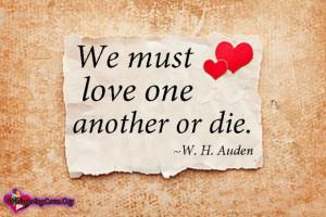 WhisperingLove.org, must, love, die, W. H. Auden