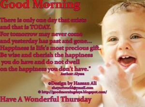 Have a wonderful thursday good morning quote