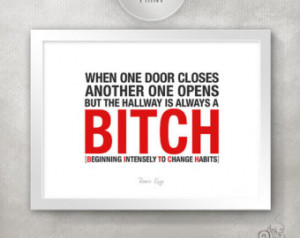 ... / Funny Quote / Gift for a Friend College Dorm Room Decor // 5x7