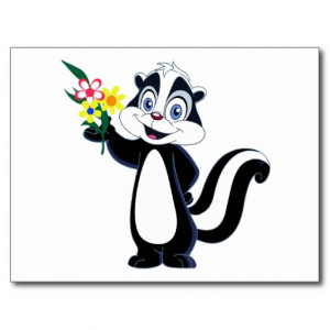 Flower The Skunk Coloring Page Freecoloringpagesite