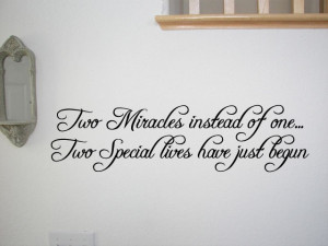 Twins Baby Room Wall Quote Decal Nursery Decor Kids Home Decor ...