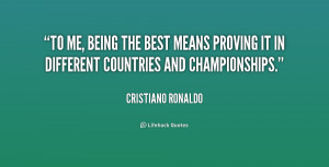 Quotes About Being the Best