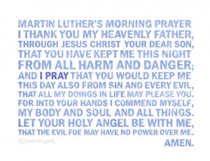 Prayer: Daughters Praying, Luther Mornings, Lutheran Quotes, Quotes ...