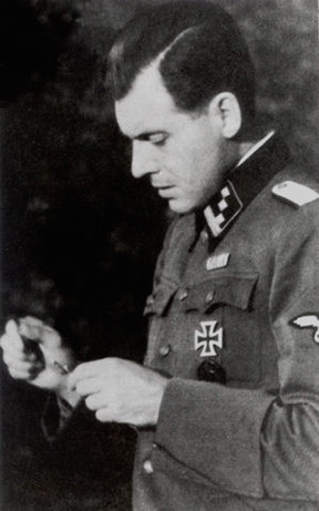 The photo above was taken while Mengele was home on leave, after ...