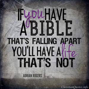 Adrian Rogers Quote – A Falling Apart Bible