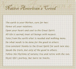 Native American Quotes On Death A native american creed: