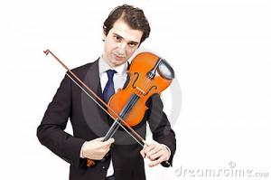 Sad Violin Player