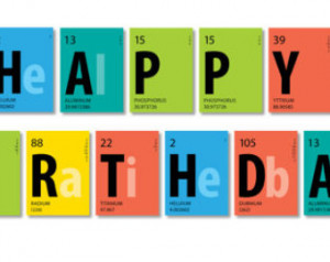 Periodic Table Scientist Happy Birt hday ONLY Banner PRINTED ...