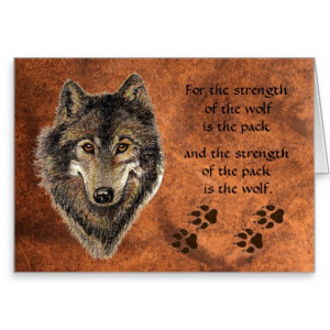 Wolf Tracks & Pack Family Quote Cards