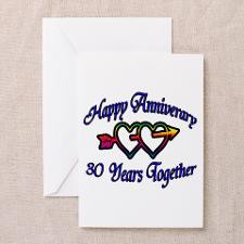 Cute 30th wedding anniversary Greeting Cards (Pk of 20)