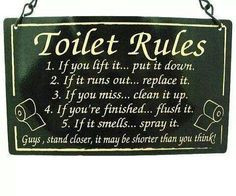 ... funny bathroom quotes toilets rules funny stuff funny quotes plaque