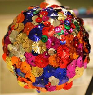 Handmade Christmas Ball Wreath