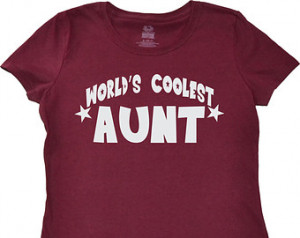 Worlds Coolest Aunt T-shirt Funny Greatest Aunt Tee Shirt Ladies ...