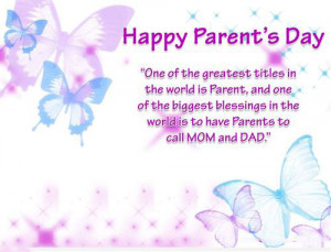 Cute Parents' Day Card with Quotes From Daughter: One of the greatest ...