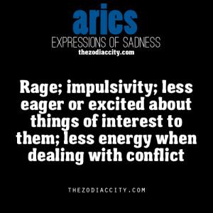 zodiaccity:Zodiac Expression of Sadness: Aries (reworded)