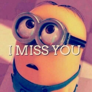 cute, disney, i miss you, love, minions, miss, miss you, sweet