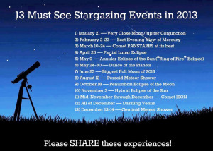 Stargazing in 2013: plan an astronomical holiday!