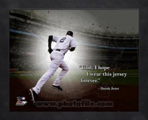 ... Derek Jeter New York Yankees Forever Pro Quotes Framed 8x10 Photo