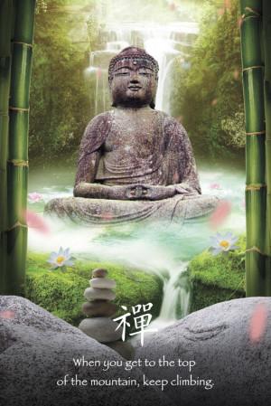 Home General Spiritual Motivational Zen Buddha Maxi Poster