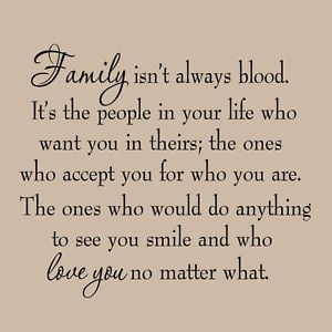 ... Family Isn't Always Blood Wall Decal Saying Home Decor Stickers Quotes