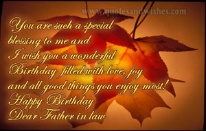 birthday father in law 1 Happy Birthday wishes for father in law ...