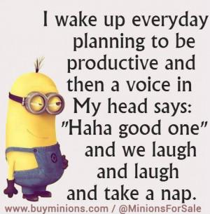 Funny Minions Quotes Minions quote productivity