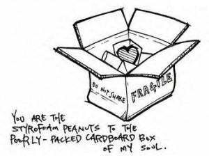 ... to the poorly - packed cardboard box of my soul. photo cardboard.jpg