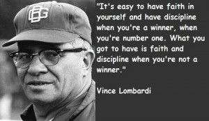 ... football quotes vince the quality of a persons life vince lombardi