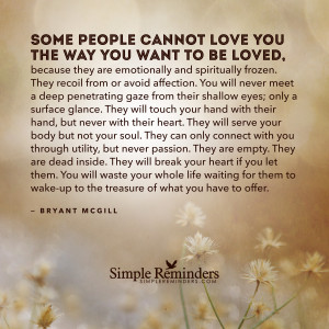Those who cannot love