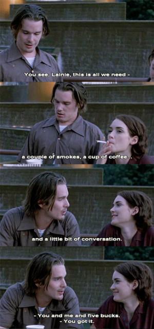 Troy & LelainaEthan Hawke, Winona RyderReality Bites (1994)