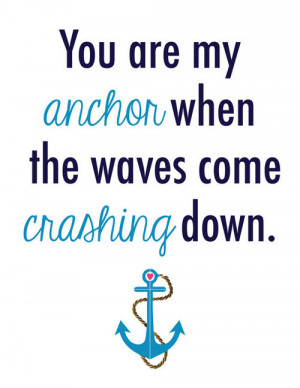 Anchor Quote Modern Art Print 8x10/11x14/13x19 by LoconDesigns