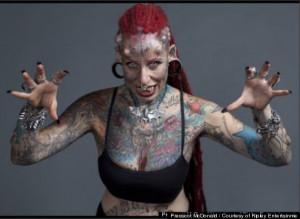 Head-To-Toe Body Tattoos Make Clothing Optional