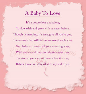 ... poems shopping cart testimonials contact a baby to love poem