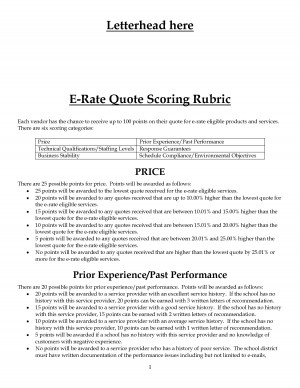 Scoring Rubric Example Quote Scoring Rubric by MikeJenny