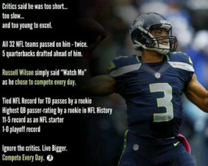 Russell Wilson ~ bad ass. Never mind what the haters say: Seahawks ...